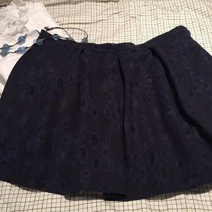 GAP skirt dark blue print